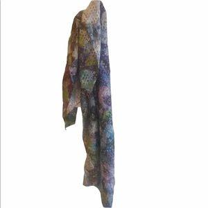 Designer's Guild NWT Palasini Cobalt Silk Scarf